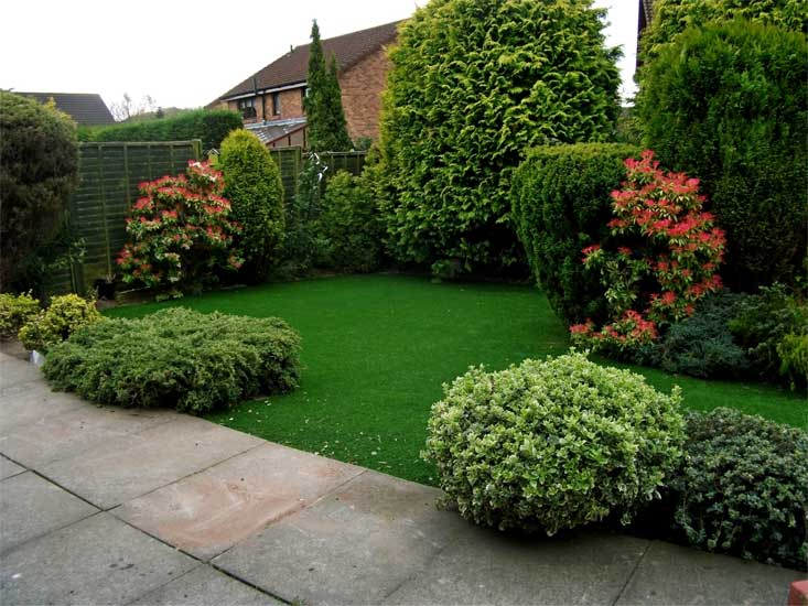 Artificial Grass Lawn Fitted By A Trade Customer